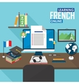 E-learning French language vector image vector image