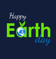 earth text vector image vector image