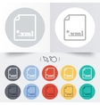 File document icon Download XML button vector image vector image