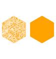 filled hexagon mosaic of repair tools vector image
