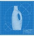 Flat cleaner bottle vector image vector image