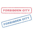 forbidden city textile stamps vector image vector image