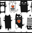funny cats seamless pattern for your design vector image vector image