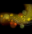 gold abstract bokeh glowing background vector image vector image