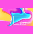 gradient fluid background poster vector image