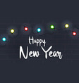 happy new year with little lamp vector image vector image