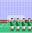 Iran Soccer Club Penalty on a Stadium vector image vector image