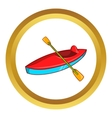 Kayak icon vector image vector image