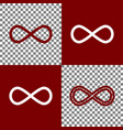 limitless symbol bordo and vector image vector image