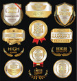 luxury golden retro labels collection 1 vector image vector image
