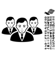 Manager Group Flat Icon With Bonus vector image