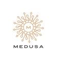 medusa mandala logo icon vector image