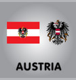 official government elements of austria vector image vector image
