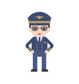 pilot in uniform set profession character vector image