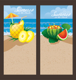Pineapple Watermelon Cocktail Backdrop vector image vector image