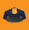 police hat flat vector image