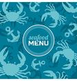 Seafood Menu 2 vector image vector image