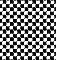 Seamless black and white curved shape pattern vector image vector image