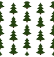 seamless of christmas trees vector image vector image