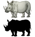 set of rhinoceros character vector image