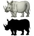 set rhinoceros character vector image