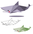 shark low polygon vector image