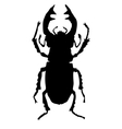 silhouette of stag-beetle vector image