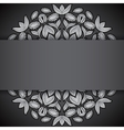 Silver and black round sunflowers invitation vector image vector image
