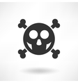 Simply Skull Icon vector image