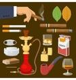 Smoking Tobacco Decorative Icons Set vector image vector image