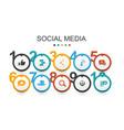 social media infographic design template like vector image