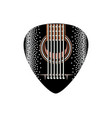 stylish black plectrum for guitar vector image vector image