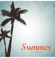summer design over pattern background vector image vector image