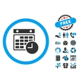 Time Table Flat Icon with Bonus vector image vector image