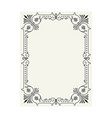 vintage border frame engraving with retro vector image vector image