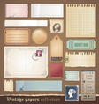 Vintage papers collection vector | Price: 3 Credits (USD $3)
