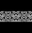 vintage russian ornament for black white floral vector image