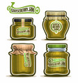 gooseberry jam in glass jars vector image
