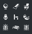 set of different armchairs icons vector image