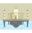 Taj Mahal Indian palace vector image