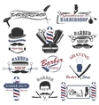 Barbershop tool collection vector image