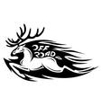 Wild deer vector image
