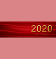 2020 red chrisrmas new year background greeting vector image vector image