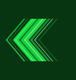 abstract green arrow direction speed