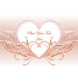 abstract valentine design vector image vector image