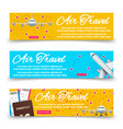 air travel banners collection - international vector image vector image