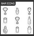 bar outline isometric icons vector image vector image