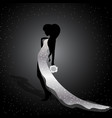 beautiful silhouette of a girl vector image