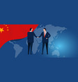 china international partnership diplomacy vector image vector image