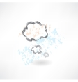 Cloud think grunge icon vector image